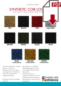 Download our Traditional Coir Logo Mats Colour Chart here >>