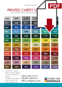 Download our Printed Carpet Logo Mats Colour Chart here >>