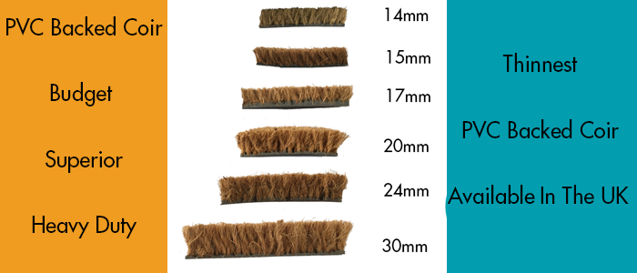 Thinnest PVC Backed Coir Available In The UK