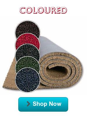 Coloured coir matting to suit your decor...