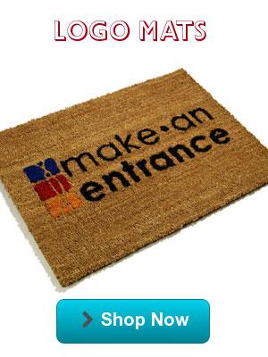 All types of logo door mats