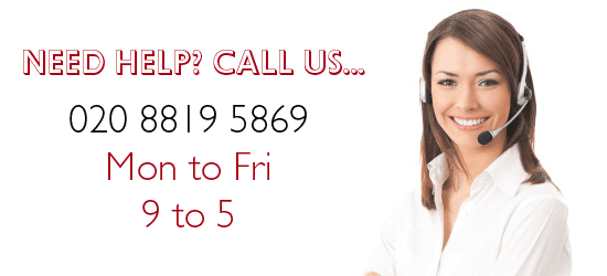 Please call us on 020 8819 5869 if you need assistance, we'd love to hear from you.