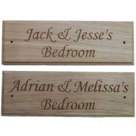 Personalised Wooden Name Plaques - Monotype Corsiva Typeface