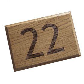 Engraved Oak House Number (up to 2 digit)