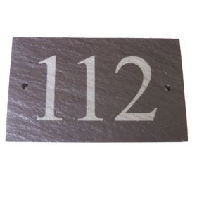 Slate House Number Sign (up to 3 digit)