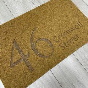 Engraved Address Doormat