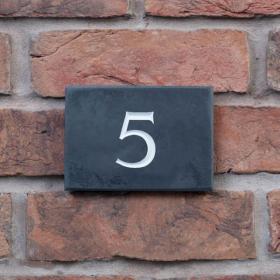 Slate House Number (1 Digit)