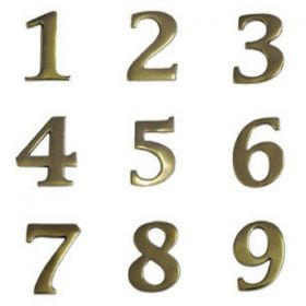 Antique Brass House Numbers