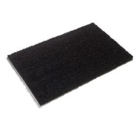 Premium PVC Backed Coloured Black Coir Matting - Black