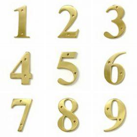 Brass Door Numbers (Large)