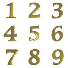 Brass House Numbers (Small)