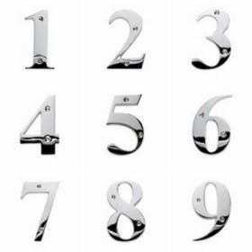 Chrome Door Numbers (Large)