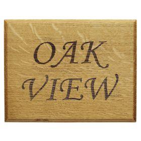 Engraved Oak House Sign (2 row)