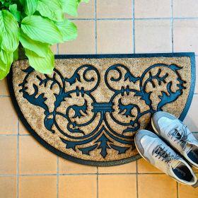 Cat + Butterfly Design - Double Door Mat for Patio Doors (120cm wide) - Printed Motif