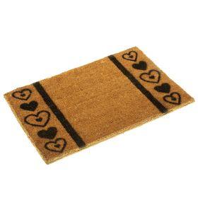 Heart Pattern Doormat - Eco Friendly Biodegradable Coir Fibre