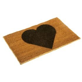 Heart Doormat - printed with eco friendly inks on biodegradable coir