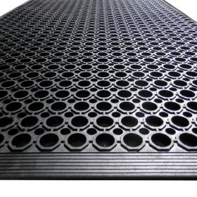 Heavy Duty Rubber Work Mat - With Border
