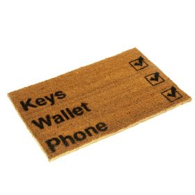 Keys, Wallet, Phone Doormat - Biodegradable and Eco Friendly