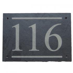 Large Front Door Number Plaque