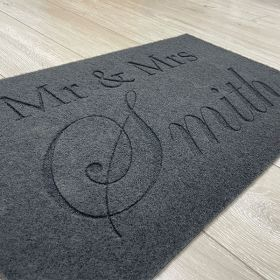 Personalised Mr and Mrs Doormat