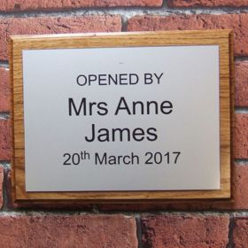 House Name Sign Wooden / Acrylic - makes an ideal presentation plaque