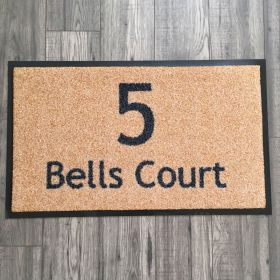 Have your House Number and Street Name / House Name printed onto our Personalized Outdoor Doormat