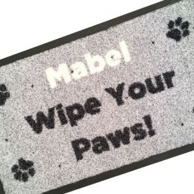 Personalised Wipe Your Paws Doormat