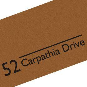 Personalised Indoor Number Address Doormat