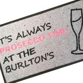 Personalised Prosecco Doormat