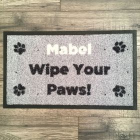 Personalised Wipe Your Paws Mat - Washable Doormat