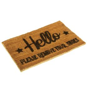 Hello Please Remove Your Shoes Doormat - Biodegradable and Eco Friendly