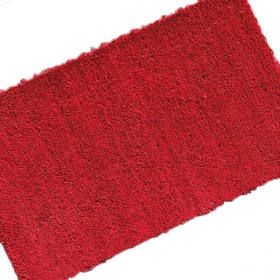 Premium PVC Backed Coloured Coir Matting - Red