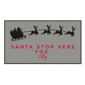 Personalised Santa Stop Here Doormat