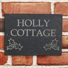 Times New Roman - Upper Case with Holly Motif