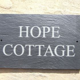2 Line Slate House Sign - Times New Roman - Upper Case