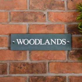 Smooth Slate House Name Sign