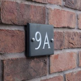 Smooth Slate House Number Sign