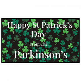 St Patrick's Day Personalised Doormat
