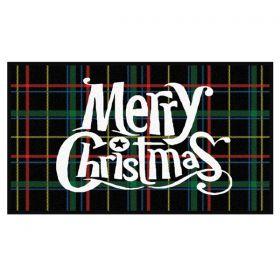 Christmas Tartan Doormat