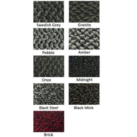 Our textile mats have an anti-slip rubber backing