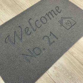 House Number Welcome Doormat