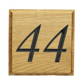 Choose to have your numbers painted after they are carved to make them really stand out.