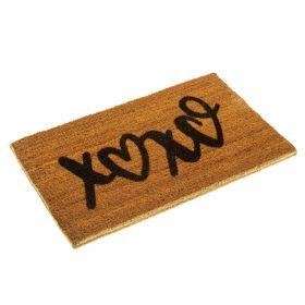 XOXO Doormat - Hugs and Kisses Doormat in Eco Friendly Biodegradable Coir