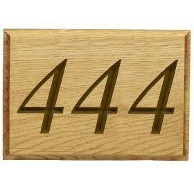Carved Wood House Number (up to 3 digit)