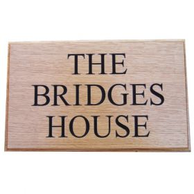 Carved Wood House Name Sign (3 row)