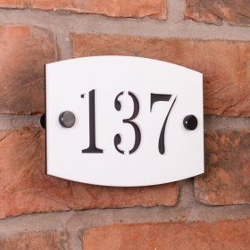 Acrylic House Number Plaque