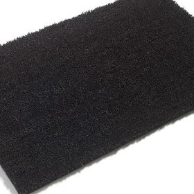 Premium PVC Backed Coloured Black Coir Matting - Black