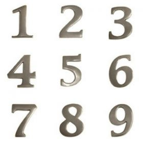 Chrome House Numbers (Small)