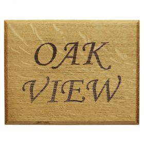 Engraved Oak House Sign (2 row)