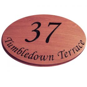 Oval House Number Plaque